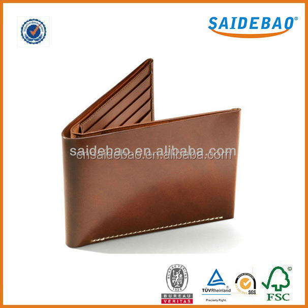 Dongguan factory direct Delicate leather men's wallet with Multi-function pocket and coin pocket