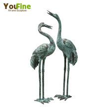 Long Neck Large Bronze Crane Statue
