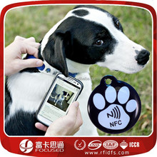 epoxy waterproof nfc pet id collar tag