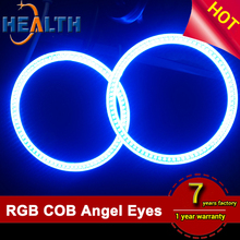 12V COB Angel Eyes RGB Multi-Color LED Halo Ring Light At 160mm