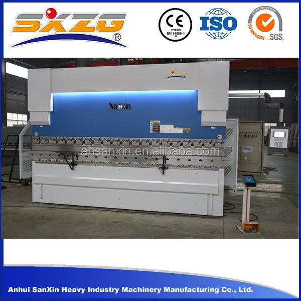 High quality 2500mm 80T DA41S stainless steel used mini hydraulic cnc press brake with multi v die