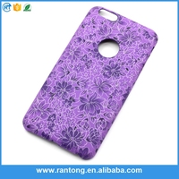 Hot sale fashion custom Flower Printed leather mobile phone case for iphone 6