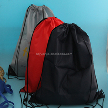 polyester fabric custom soccer shoe bag with drawstring
