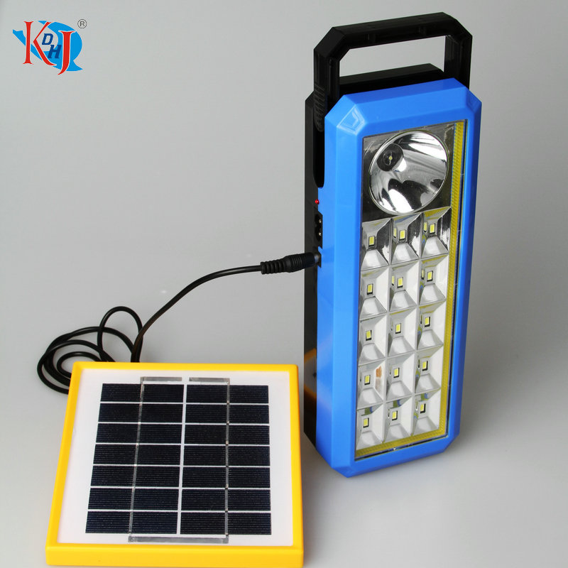 KDHJ 1+15 SMD LED solar rechargeable lamp portable lantern
