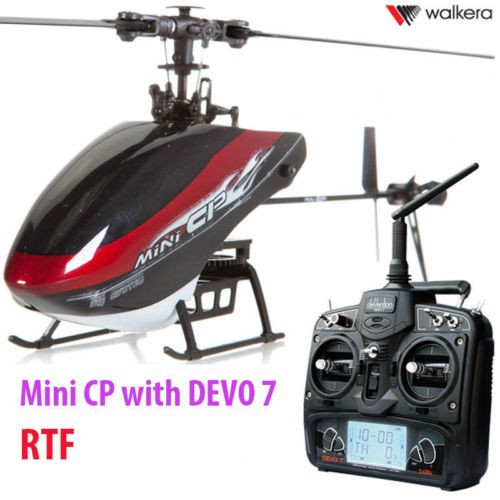 Walkera Mini CP 3D 6ch RC Micro Collective Pitch Flybarless Helicopter+DEVO 7