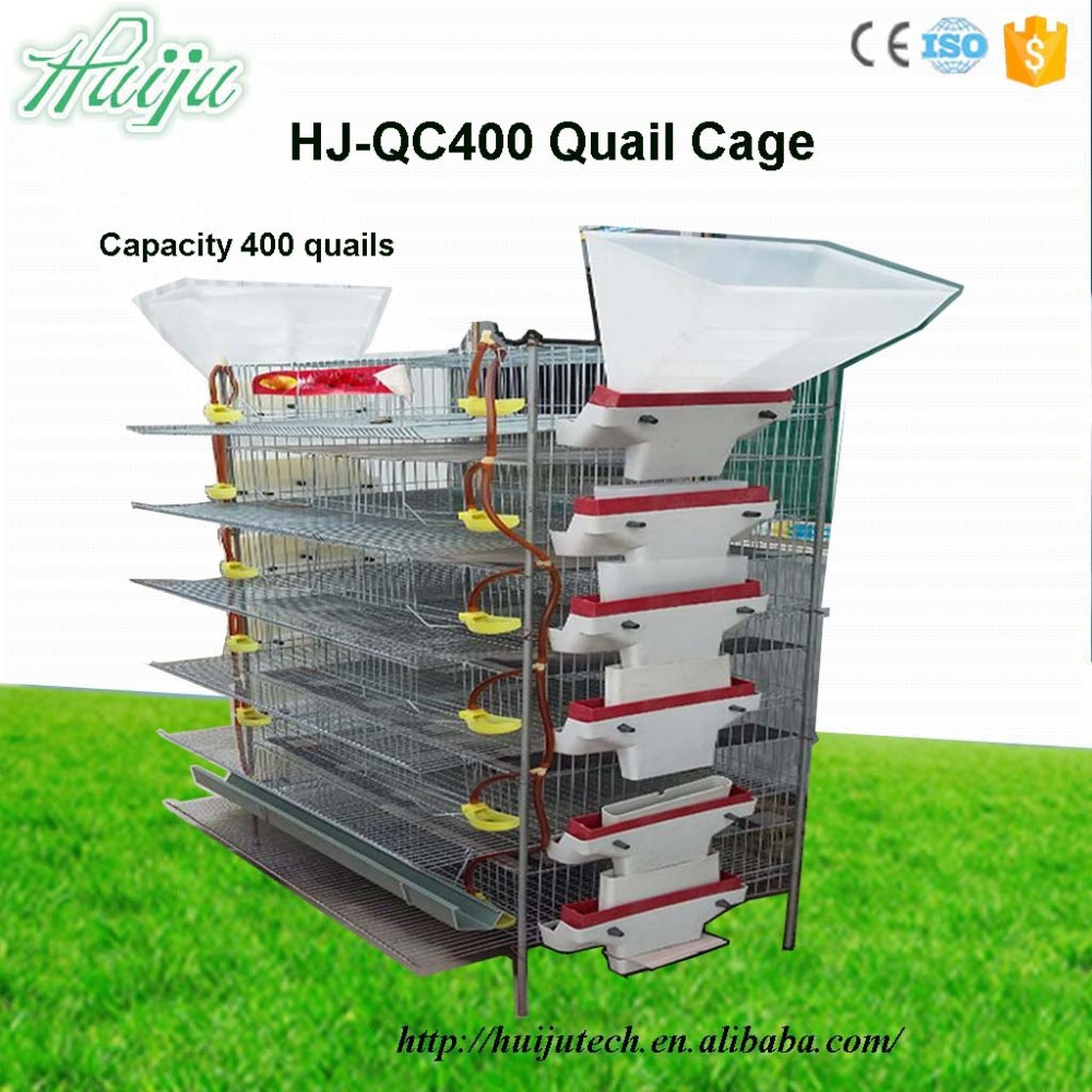 2017 best seller High quality 6 layer quail cage for laying hen with Water Pipe HJ-QC400