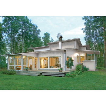 Cheap 170sqm 4 bedrooms prefab wooden house with high quality