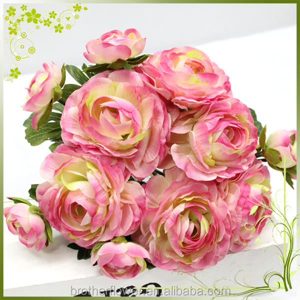 Factory Direct Sale 29cm Height 6 Heads Rose Bundle Artificial Flowers in Guangzhou