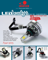 2PCS Car LED Light 40W 3600LM H3 Headlight Auto Conversion Kit 6000k White