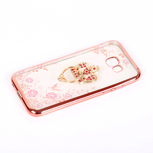 Secret Garden Plating Diamond bling Electroplating TPU case phone mobile phone case for xiaomi mi a2 a1 6x