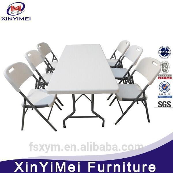 best design foldable plastic folding chair and table