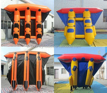 hot selling inflatable water games,inflatable banana flyfish, FUNWORLD factory flyfish