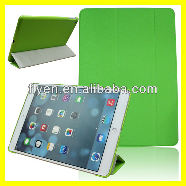minion green belk Ultra Slim Smart Magnetic trifolding pu Leather Case Cover For New Apple iPad 5 Air 2013