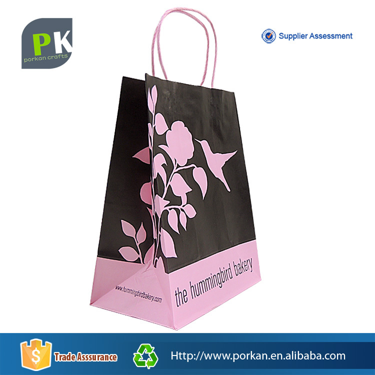 Food Use Promotional Recyclable Kraft Paper Shopping Bag