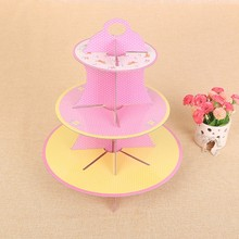 Party Birthday Wedding Festival 3-layer Paper Cake Stand