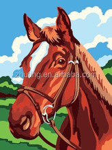 Chinese high quality wholesale handmade abstract Horse DIY oil painting