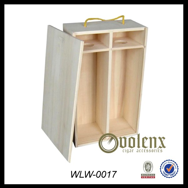 Custom Wooden Wine Bottle Packaging Box
