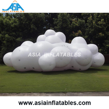2m Long Hanging Decoration Model Inflatable Cloud with Lightning, Hanging LED Lighting Inflatable Cloud Party Stage Decoration