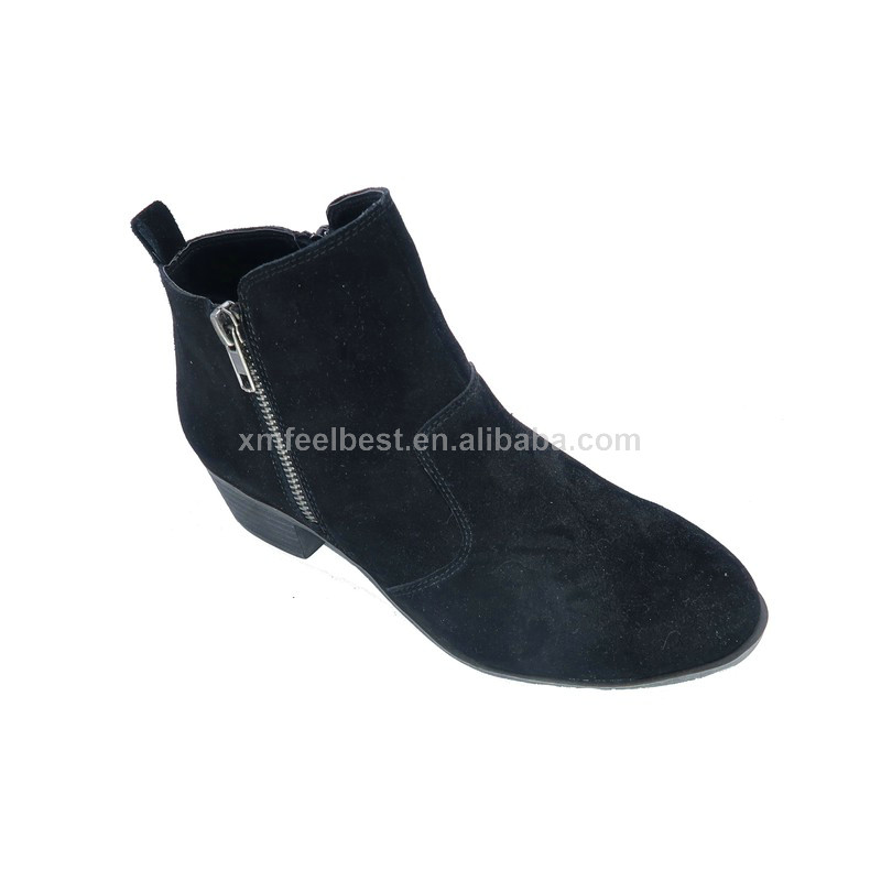 Customized design fashion new trends zipper causal winter women shoes boots