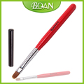 2016 BQAN New Design Red Wood Handle Black Metal Cap Synthetic Hair Oval Art UV Gel Brush Painting Nail