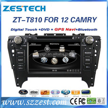 car navigation radio cd player for Toyota Camry 2012 touch screen car dvd cd mp3 mp4 English Arabic Russian Turkish languages