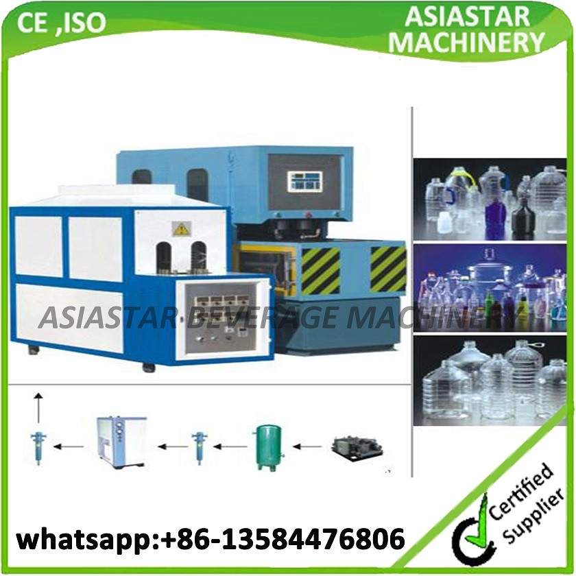 CE approved semi automatic 5 gallon pc bottle blow molding machine