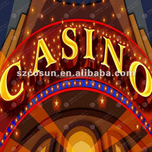 Outdoor waterproof Casino LED Letters sign
