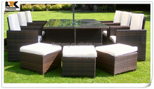 BlackBrown Mix Weave with Cover Havannah Cube Armchairs Garden Furniture