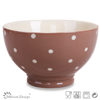 ceramic fruit bowl with dots design