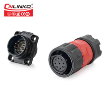 Aviation Electrical Connectors 9 Pin Bulkhead Waterproof Connector, IP67 Waterproof 9 Pin Power Connector for Stage
