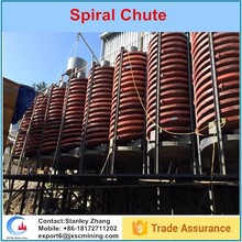 Heavy mineral chromite / zircon/ ilmenite concentration spiral chute