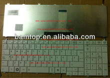 Teclado for toshiba satellite C650 L655 WHITE color Spanish SP laptop keyboard MP-09N16E0-6981 PK130CK2C19