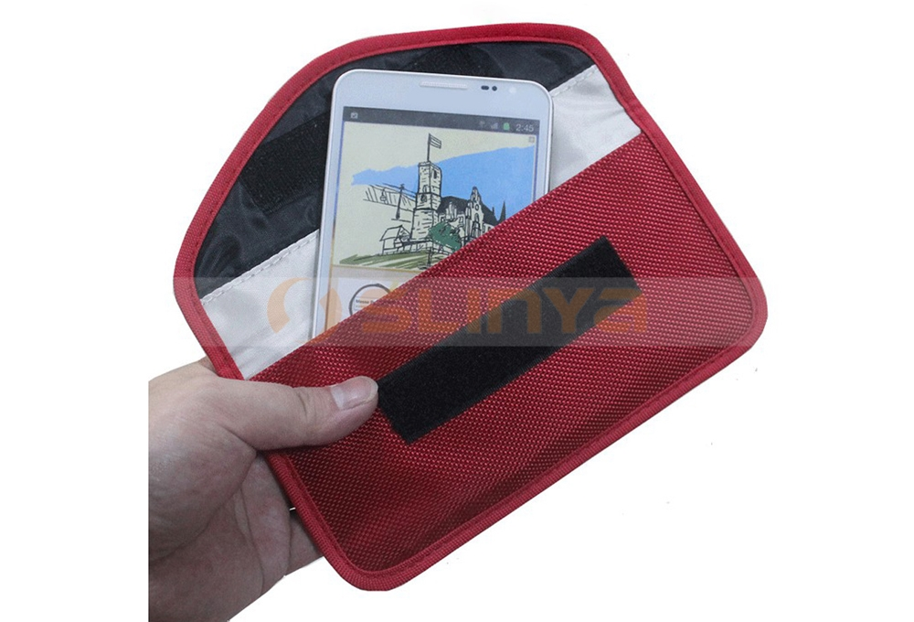 RFID Signal Blocker Anti-Tracking Anti-Spying Anti-Radiation Bag For iPhone 7/7 Plus