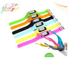 2015 best seller silicone bracelet pedometer/silicone wristband pedometer