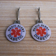 New custom metal medical alert pendant medical alert charms wholesale