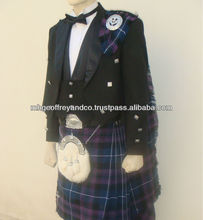 21 pcs | Geoffrey PRINCE CHARLIE JACKET & SCOTTISH KILT SET OUTFIT | 15+ TARTANS