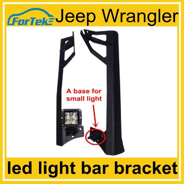 "50"" 288W offroad led bar light fixture mounting bracket for Wrangler windscreen with base for small light"