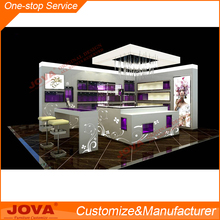 Customized jewelry wall wood showcase designs jewellery kiosk for sale
