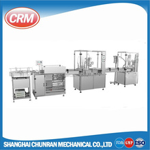 Small bottle filling and capping machine for pharmaceutical and chemical liquid bottling line
