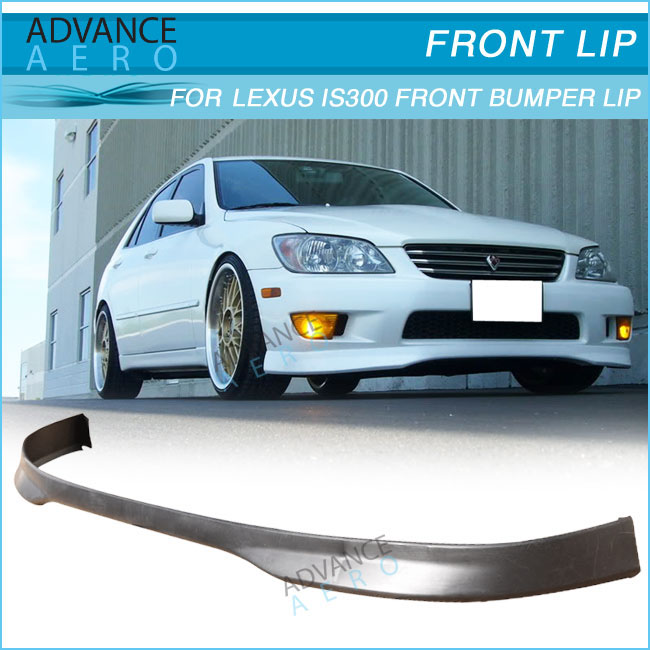 FRONT BUMPER LIP For 01 02 03 LEXUS IS300 TYPE-R Poly URETHANE BODY KITS