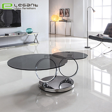 Exotic Double-sided adjustable glass coffee table
