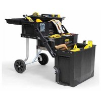Four layers plastic Stanley Fatmax style removable trolley tool box