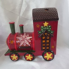 Ceramic outdoor christmas train decoration