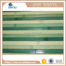 Anti-Slip two color cross strip dyed bamboo door mat