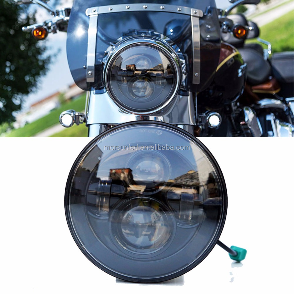 harley motorcycles led headlight 7 inch led car headlight with DOT high/low beam led driving light for Harley E-mark Approval