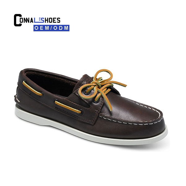 China kids shoes manufacturer Connal lace up Rubber outsole kids loafers flat summer boat shoes