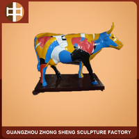 resin cow statue for outdoor decorative