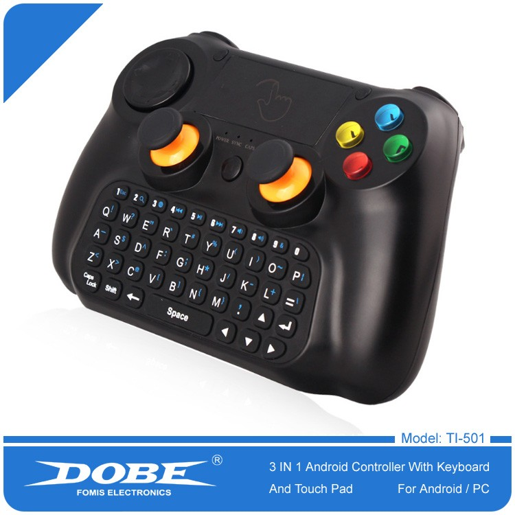 DOBE Factory Wholesale 2.4G Wireless Android Mobile Game Joysticks with Keybaord and Touch Pad