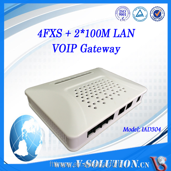 with router 4 FXS ports VoIP ATA Gateway for call center connect to IP PBX