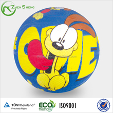 Size 1 animal cartoon promotion rubber basketball from Shanghai Zhensheng factory